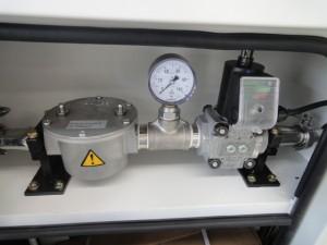 Gas train cabinet
