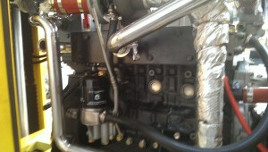 Water cooled exhaust manifold