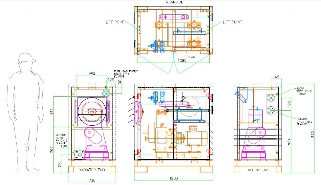 3.8kWe Biogas CHP CAD
